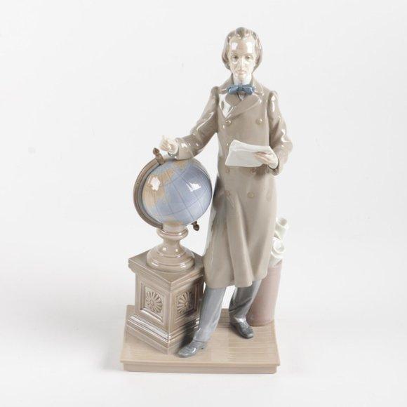 Vintage Lladro Professor /w Globe Figurine - #5208